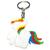 Porte clé licorne crinière multicolore