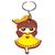 Porte clé plastique fille kawaii robe à coeurs