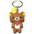 Porte clé silicone ours kawaii marron