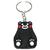 Porte clé plastique ours noir joues rouge