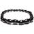 Bracelet perle bois colonne noir 6mm 1