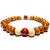 Bracelet Bois Perle Marron Blanc et Rouge 1