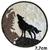PAT102 - Patch Loup Hurle Pleine Lune