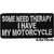 Patch thermocollant certains ont besoins de thérapie moi j'ai ma moto biker motard
