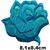 Patch fleur rose bleue stylisé