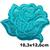 Grand patch Fleur rose bleue