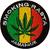 Patch Thermocollant Smoking Rasta Feuille de Cannabis Vert Jaune Rouge