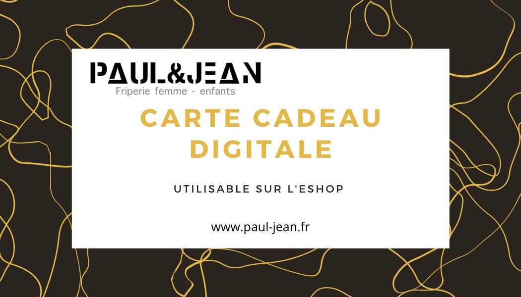 Carte Cadeau Paul&Jean