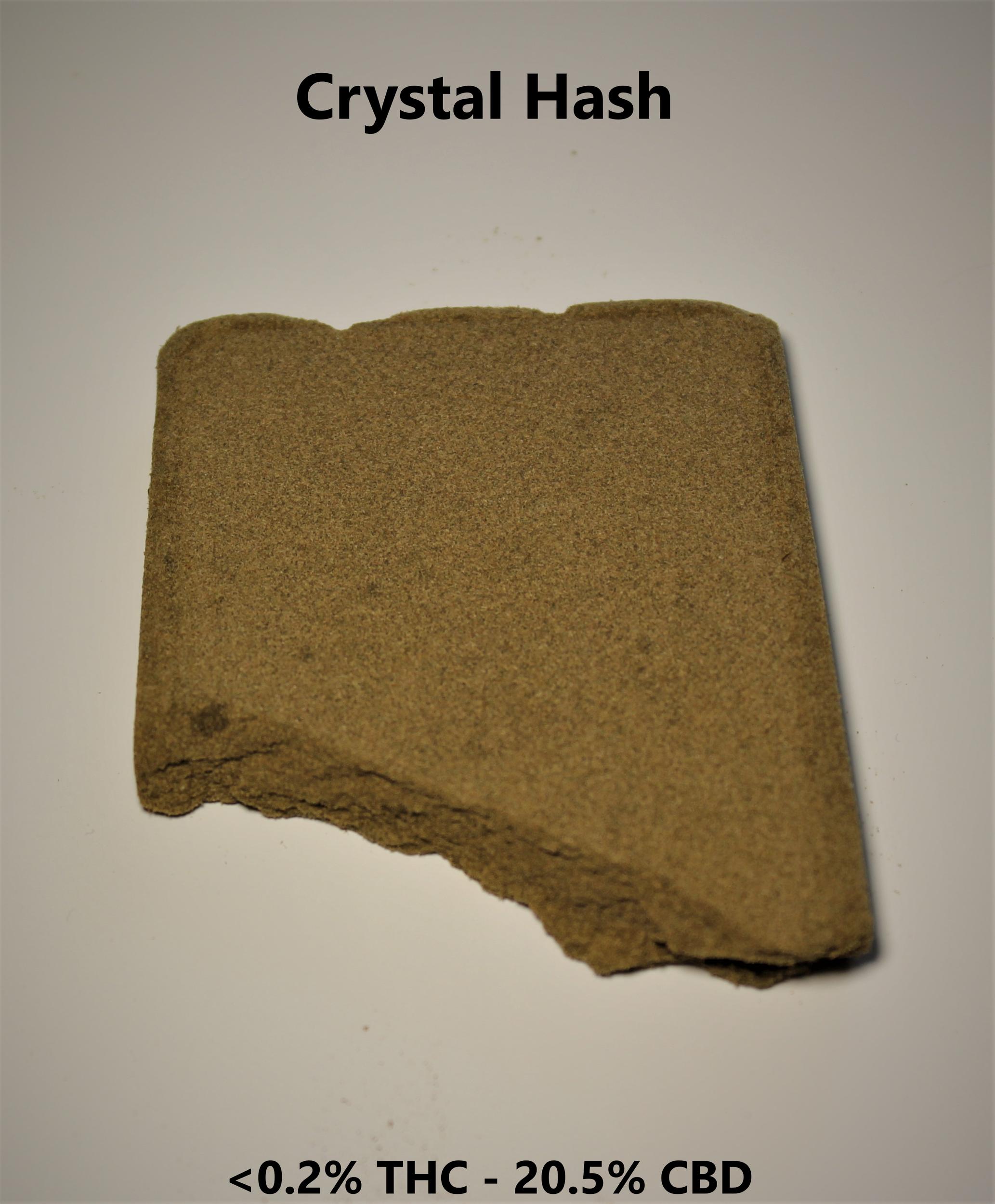 Crystal Pollen/Hash - 0.185% THC / 20.5% CBD