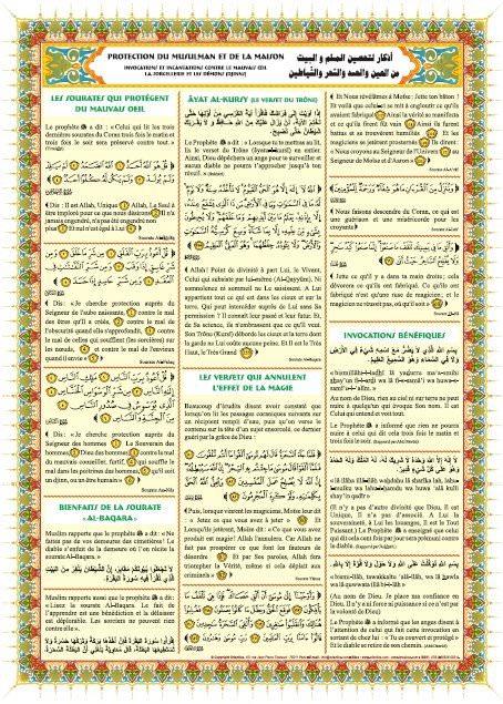 Poster : Protection du musulman et de la maison