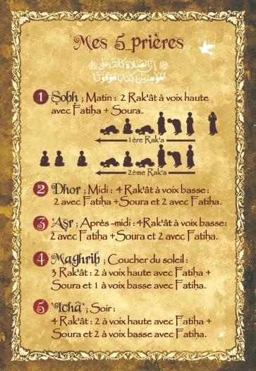 Carte postale mes 5 prières