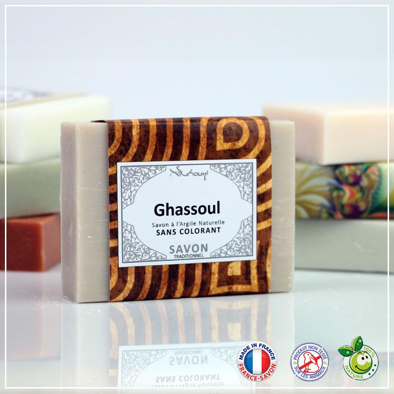 Savon au Ghassoul et à l\'argile naturelle