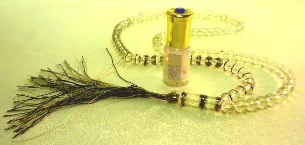 Kit invocation : Chapelet (Tasbih) et parfum Musc Blanc
