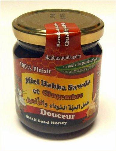 Miel Habba Sawda et Gingembre (Zanjabil) - Pot de 250G