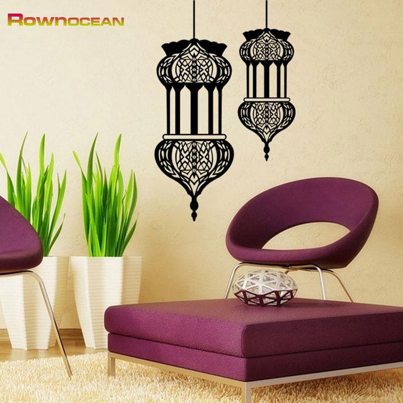 Sticker oriental lanterne