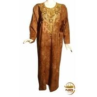 Robe Firdaws couleur cuir