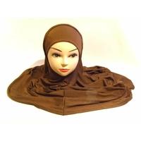 Ensemble Hijab deux pièces couleur marron chocolat