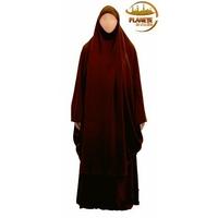 Jilbab 2 pièces AbouSouleïman - Couleur marron