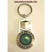 Boussole porte-clés métallique avec la forme de la Kaaba