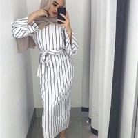 Maxi robe tunique à rayures