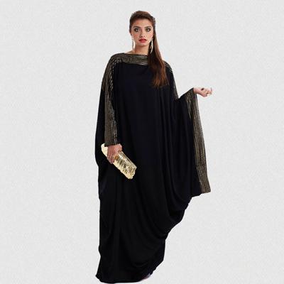 Abaya noire strass
