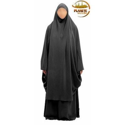 jilbab gris femme 2 pièces