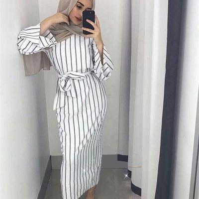 Maxi robe tunique rayée pour femmes