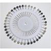 Roue de 40 épingles noires et blanches perlées