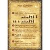 """Carte postale """"mes 5 prières"""""""