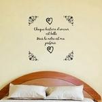 sticker mural chambre histoire d'amour noir2
