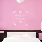 sticker mural chambre histoire damour blanc