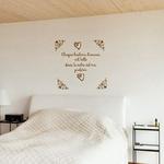 sticker mural chambre histoire damour marron