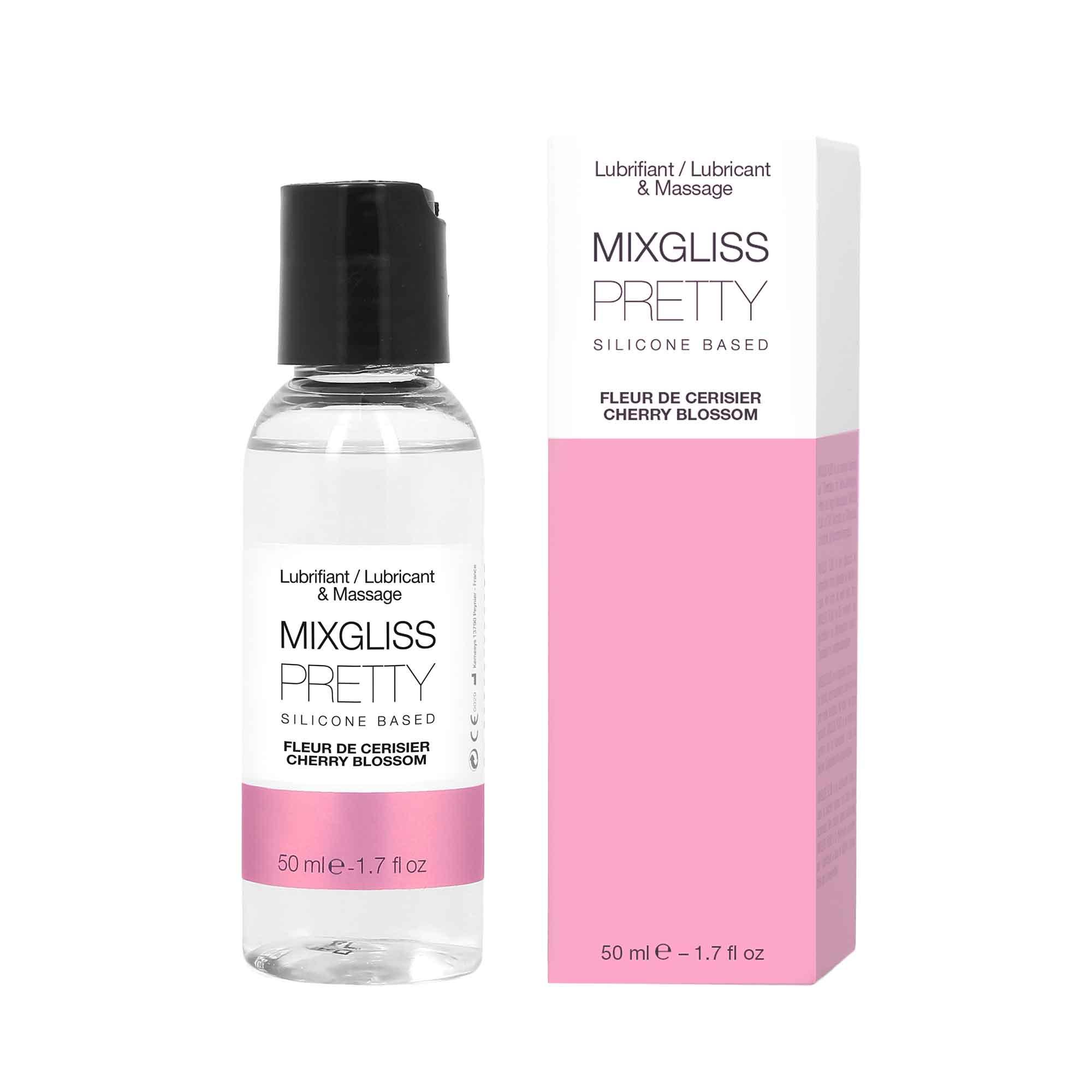 Lubrifiant/Massage Pretty Fleur de Cerisier 50 ML - MIXGLISS