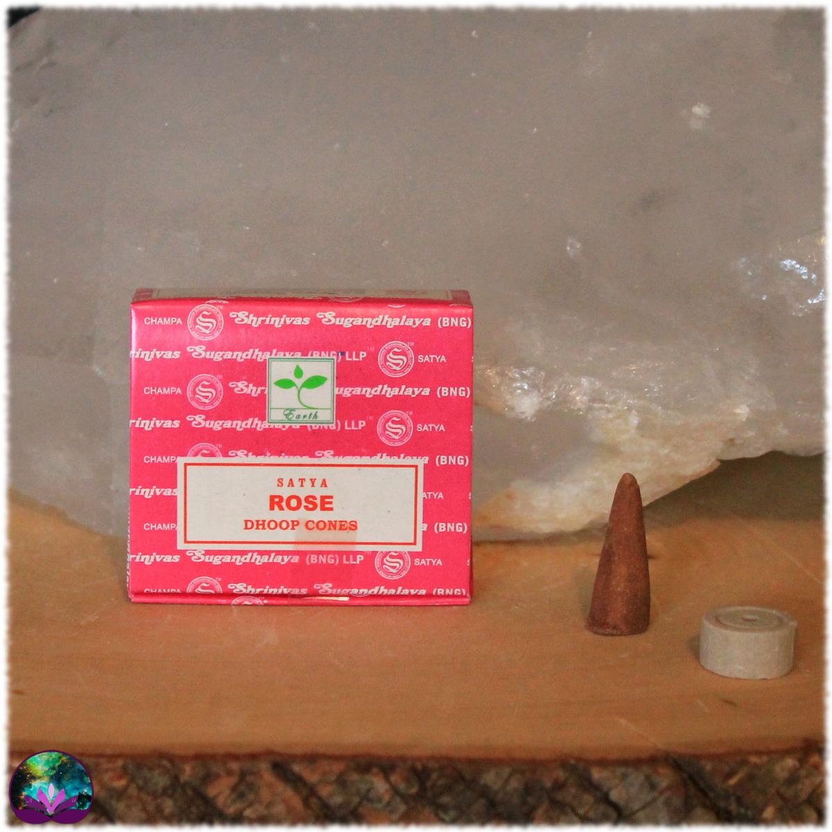 Encens Indien Satya Rose Boîte 12 cônes