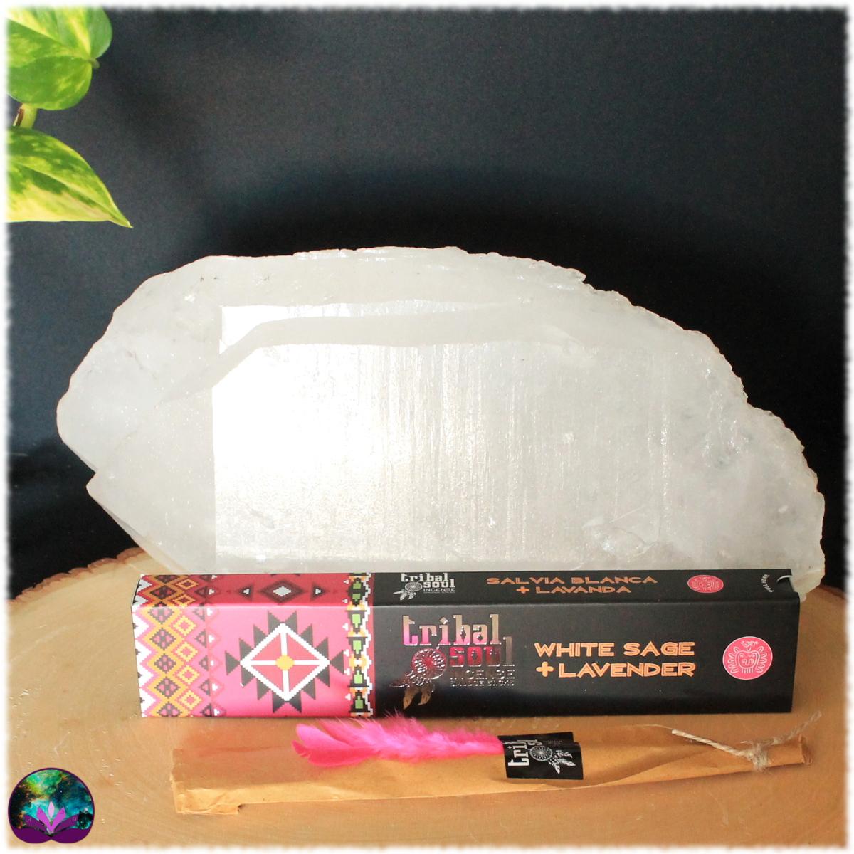 Encens bâton Sauge blanche lavande 15 gr de Tribal Soul