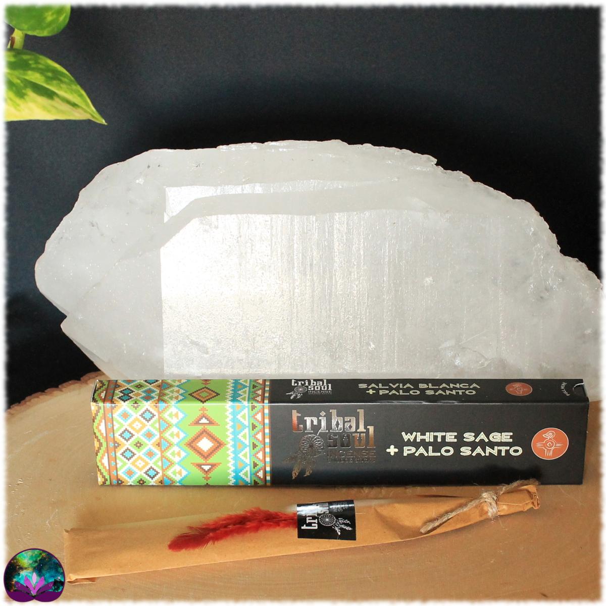 Encens bâton Sauge blanche Palo Santo 15 gr de Tribal Soul