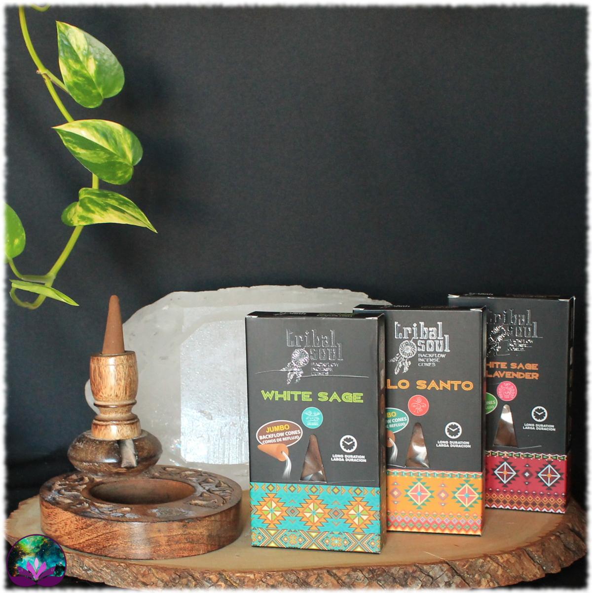 Lot démarrage Fontaine à encens Bouddha + 3 boîtes d\'encens