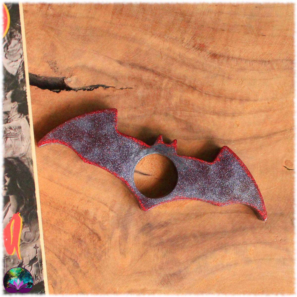 porte page bloque page chauve souris gris rouge 2
