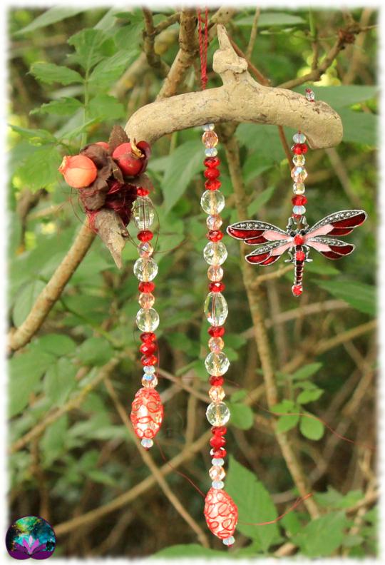 attrape-lumière papillon rouge