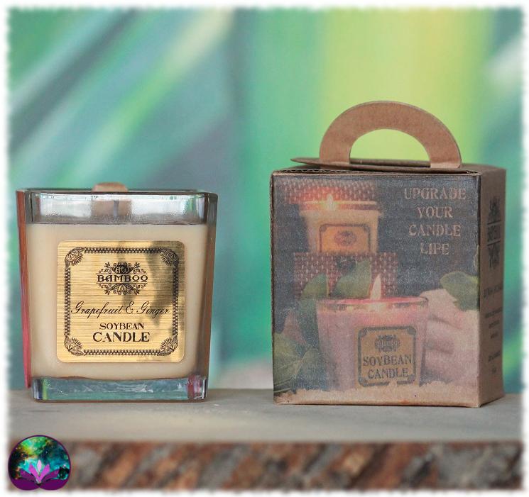 Bougie parfumée pamplemousse et gingembre