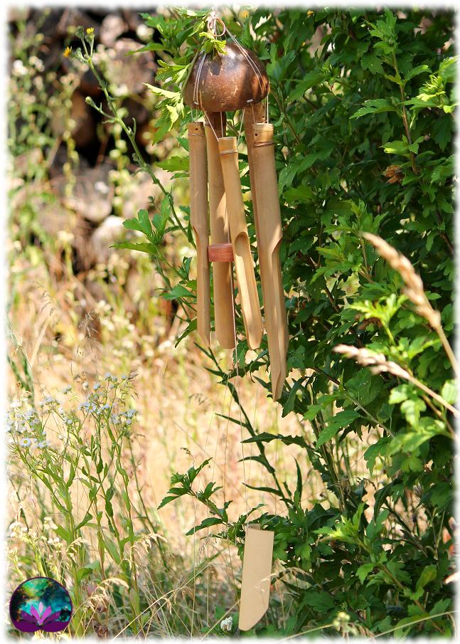 Carillon en coco et en bambou