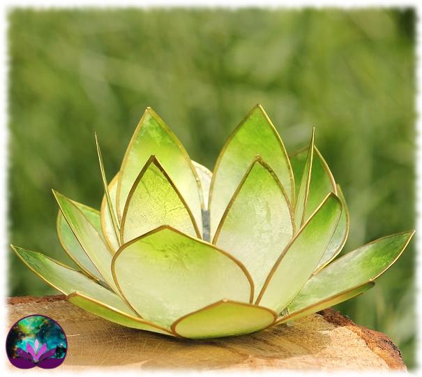 Bougeoir Lotus Vert