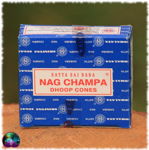 Encens Indien NAG CHAMPA Boîte 12 cônes