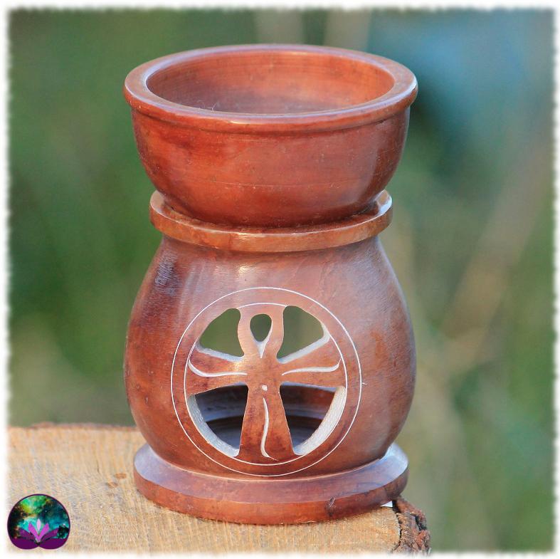 Brûle-parfum multi-usage Croix de Ânkh