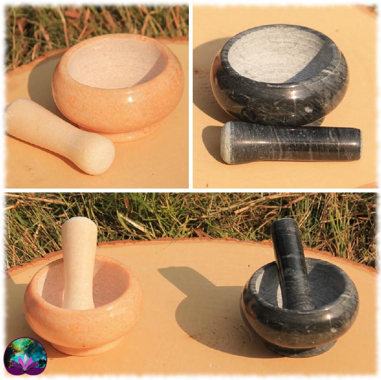 Mortier en marbre, couleur au choix