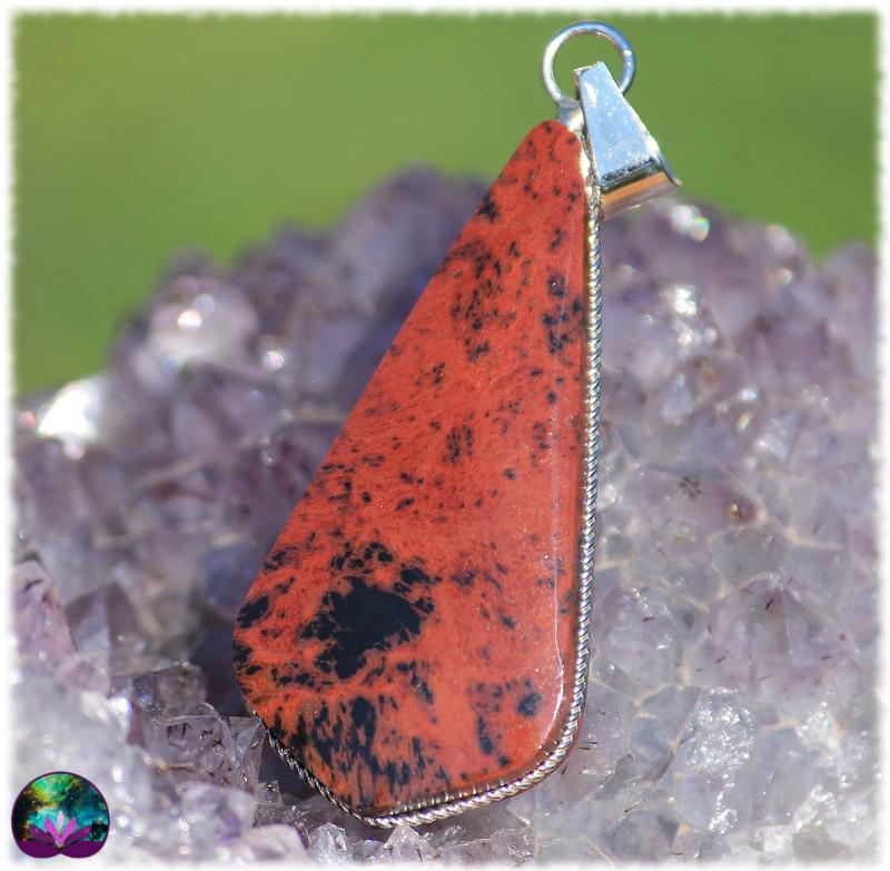 pendentif Obsidienne acajou OMPOA01