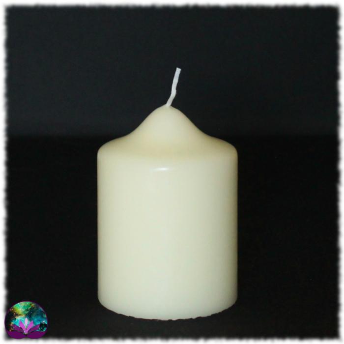 Moyen cierge pilier 100/70 blanc ivoire