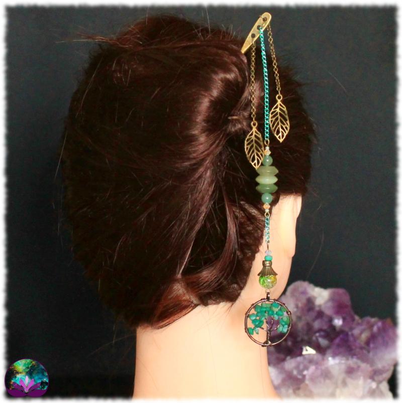 Pique à cheveux Ondulation Végétale