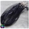cordon organza noir