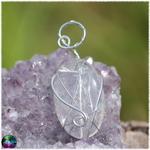 pendentif quartz rutile sertir argent 925